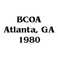 1980 BCOA national logo