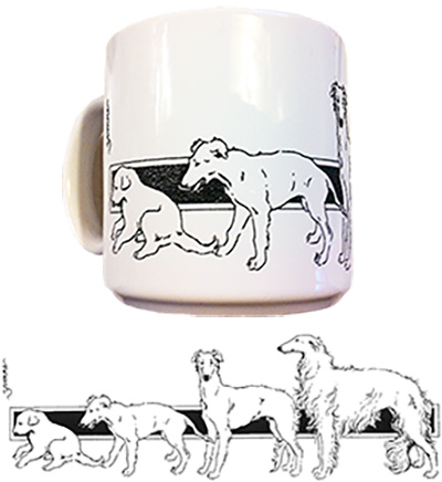BCOA Growing Borzoi Mug photo